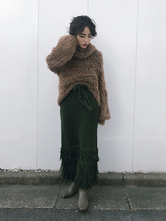 shioriok_FRINGE TIERED SKIRT