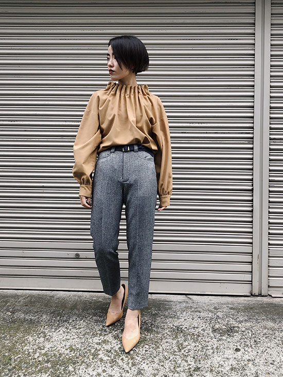 shioriok_BELT POINT TAPERED PANTS