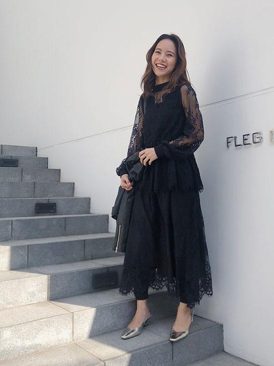 yukin_LACE LAYERED DRESS