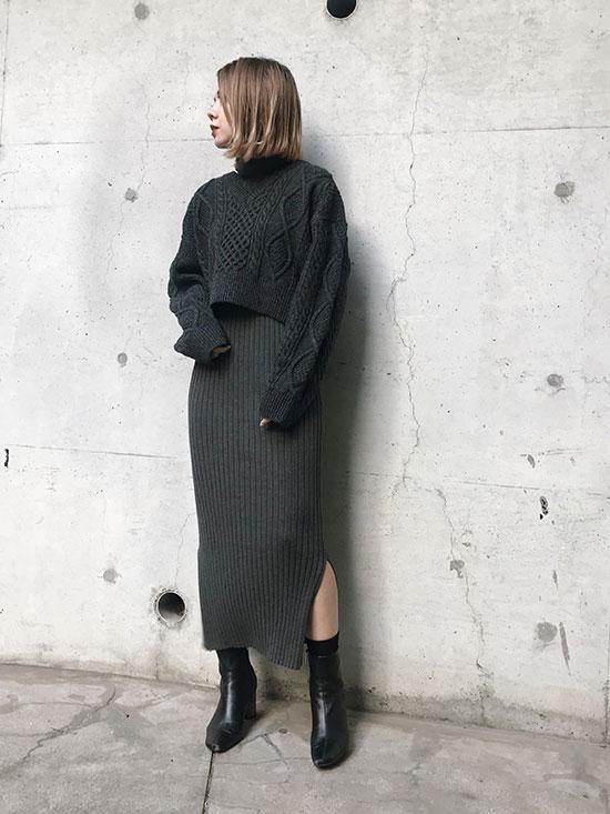 yuko_RIBBON CABLE MINI KNIT