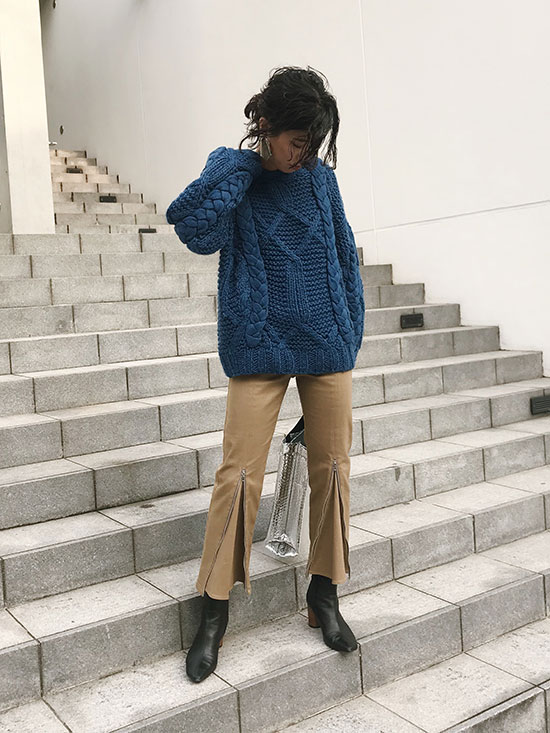 yukim_OVER SIZE TWIST KNIT