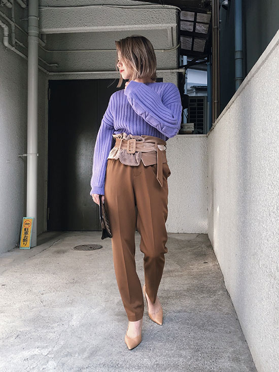 yuko_MIXTURE CORSET PANTS