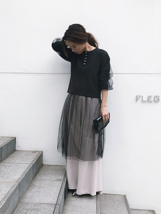 yukin_SHEER LAYERED KNIT