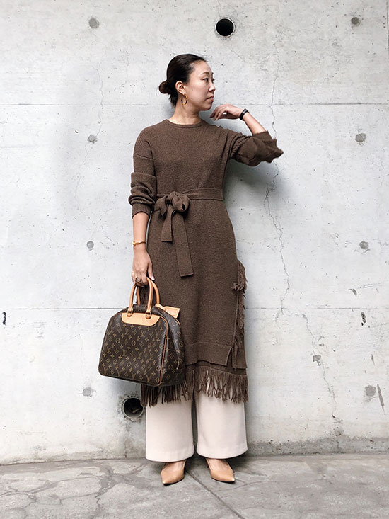 haruka_OVER FRINGE KNIT DRESS