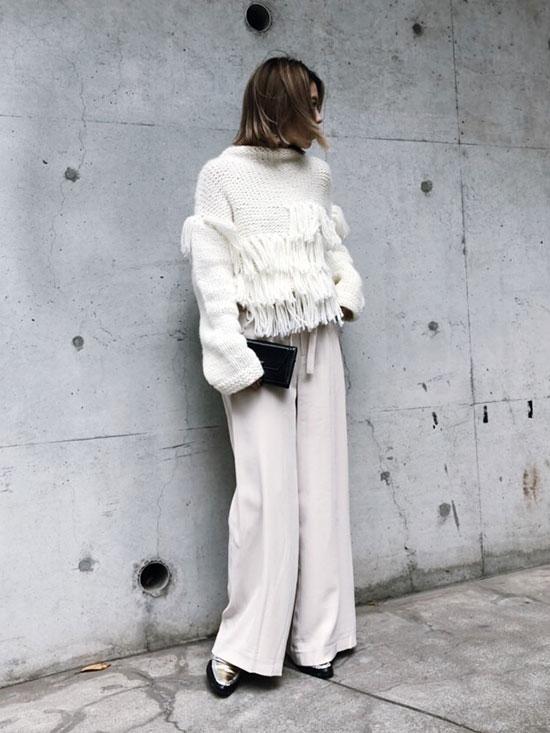 yuko_WAIST LAYERED WIDE PANTS