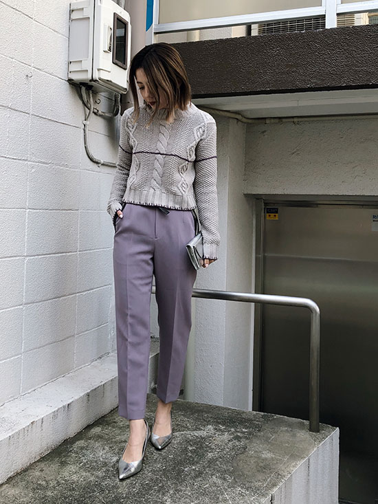 yuko_STITCH LINE CABLE KNIT