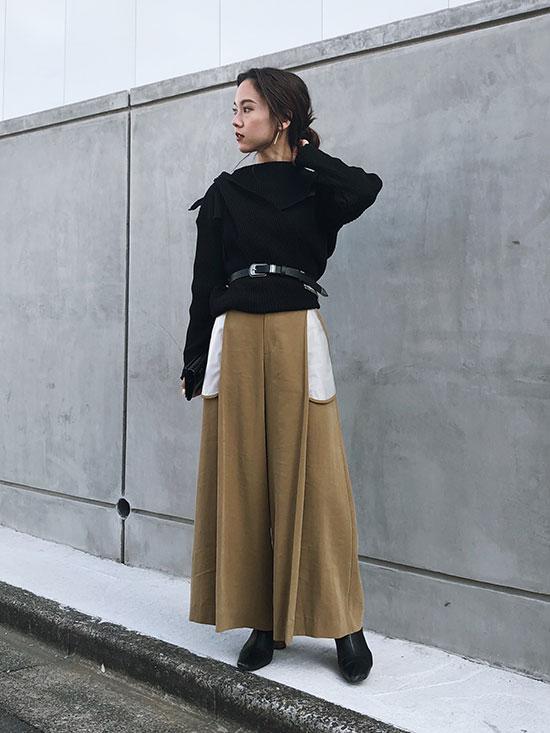 yukin_BARE POCKET WIDE PANTS