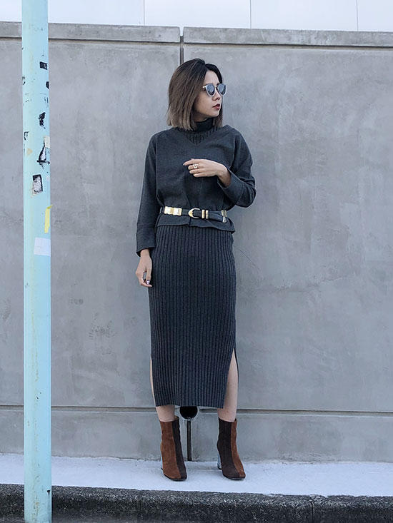 yuko_HANDY KNIT DRESS SET