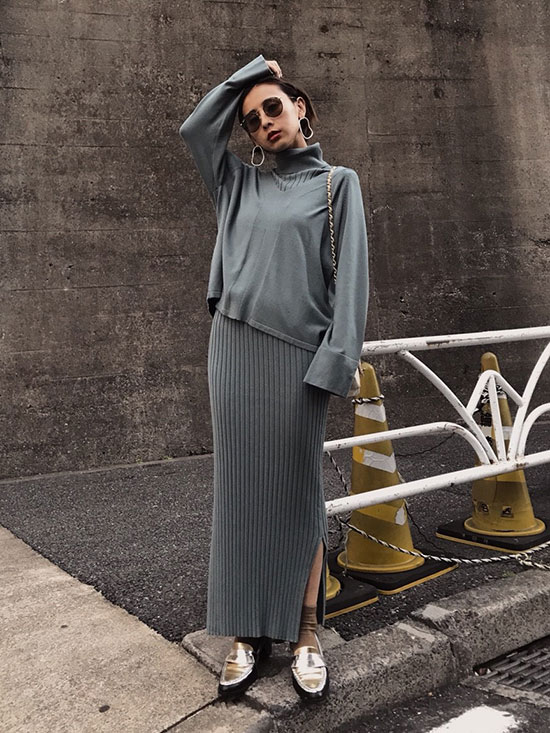 nao_HANDY KNIT DRESS SET