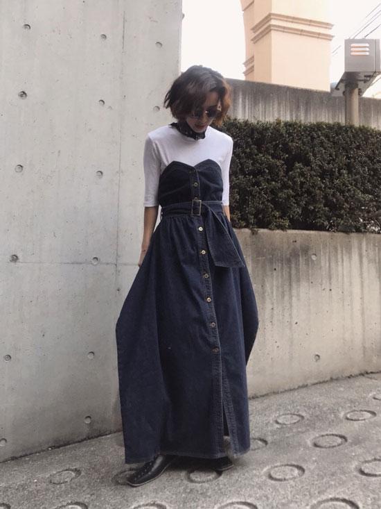 nao_DENIM UNIFY DRESS