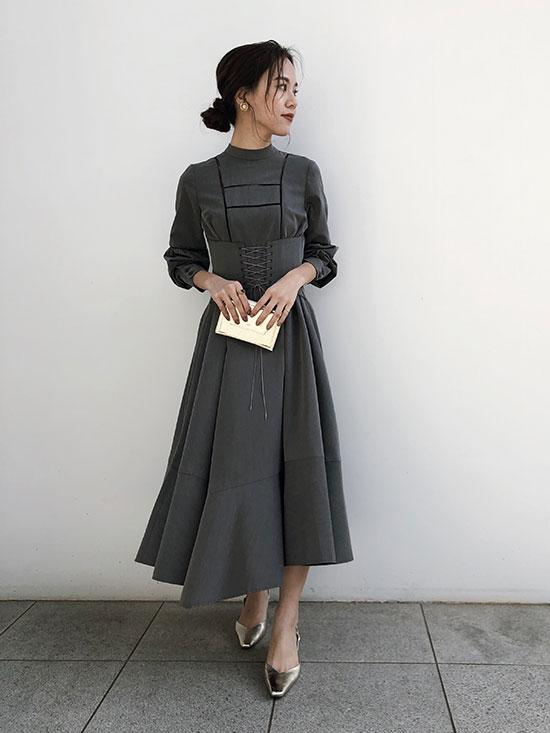yukin_LACE UP BELT DRESS