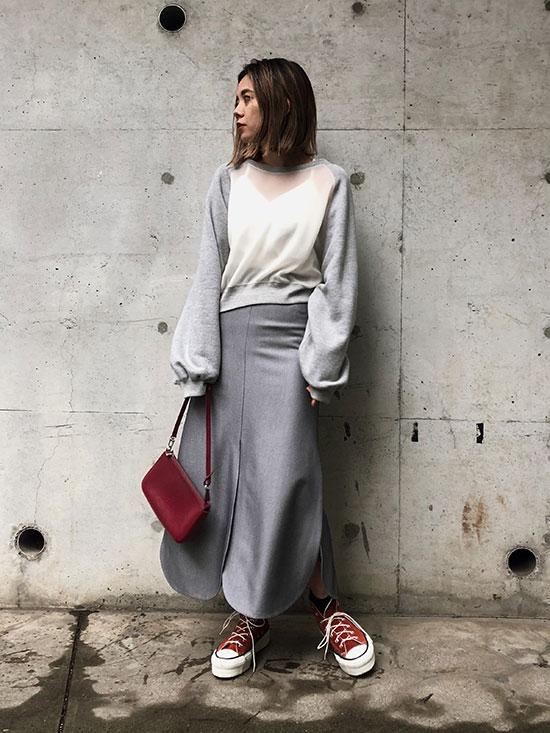 yuko_SOFT SEE-THROUGH SWEAT TOP