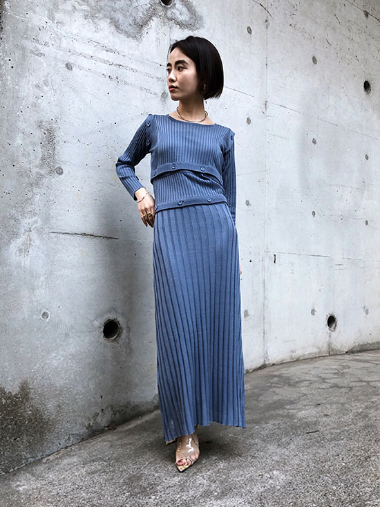 shioriok_SEPARATING KNIT DRESS