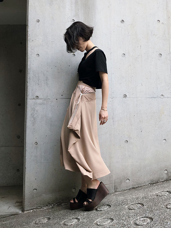 shioriok_SQUARE BAG SKIRT