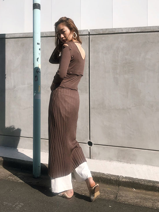 kae_SEPARATING KNIT DRESS