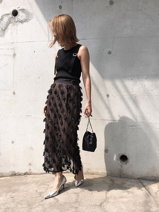 yuko_MOTIF PENCIL SKIRT