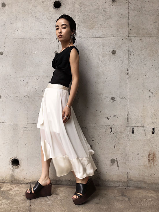 shioriok_SHEER LAYERED PANTS