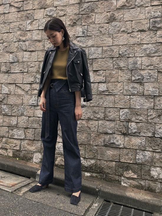 ayumi_WRAP WAIST DENIM PANTS