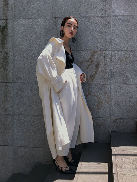 shioriok_BIG COLLAR LONG COAT
