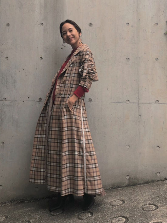 yukin_AMERI PASS CODE CHECK COAT