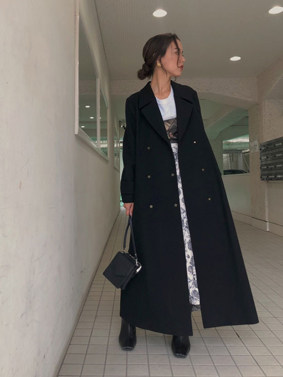 yukin_BELT FLARE LONG COAT