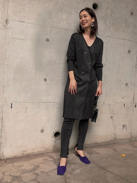 ayumi_GLITTER 2WAY DOUBLE JACKET DRESS