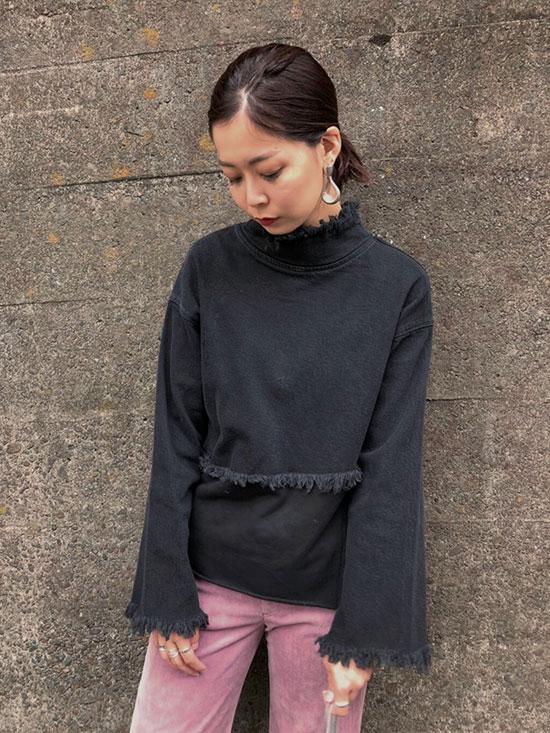 ayumi_DENIM SWEAT DOCKING TOP