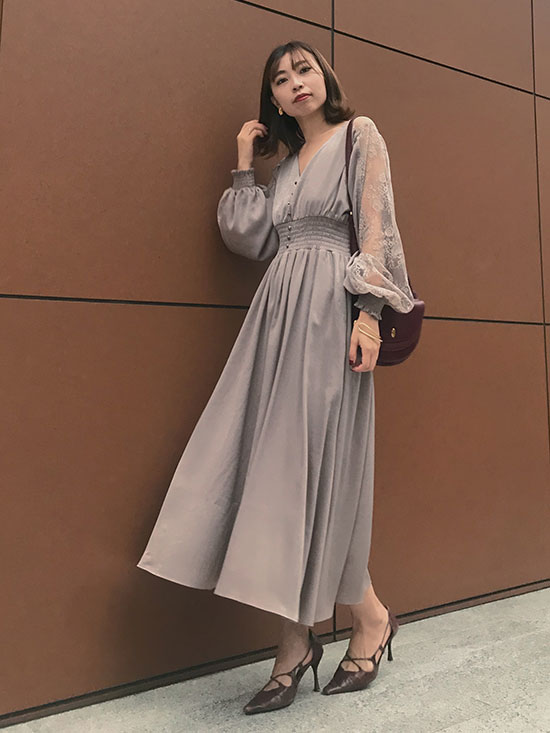 kaori_UNDRESSED GRACEFUL HALF LACE DRESS