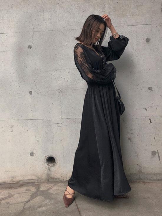 akane_UNDRESSED GRACEFUL HALF LACE DRESS