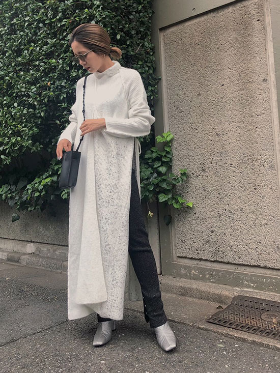 yuko_UNDRESSED CUSTOM RAP LONG KNIT TOP