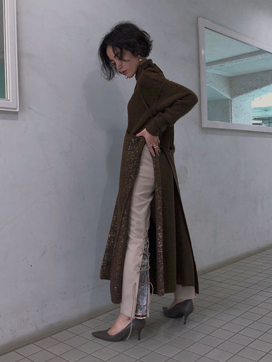 shioriok_UNDRESSED CRUISE SCARF SLIT PANTS