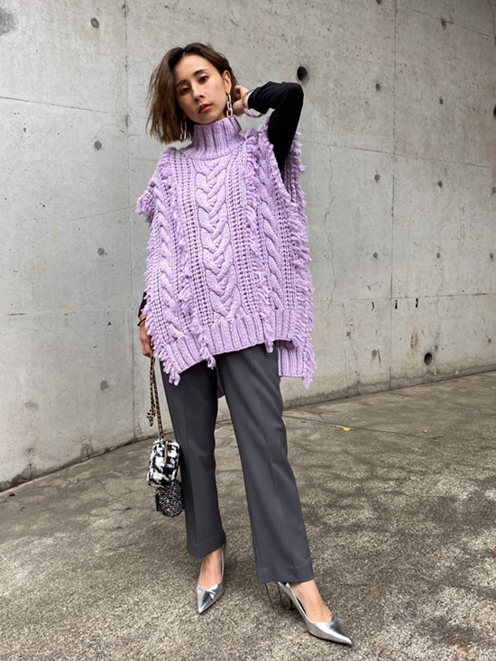 nao_UNDRESSED LOOP OVER KNIT VEST