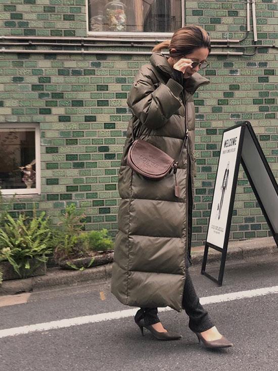 yuko_STAND COLLAR DOWN COAT