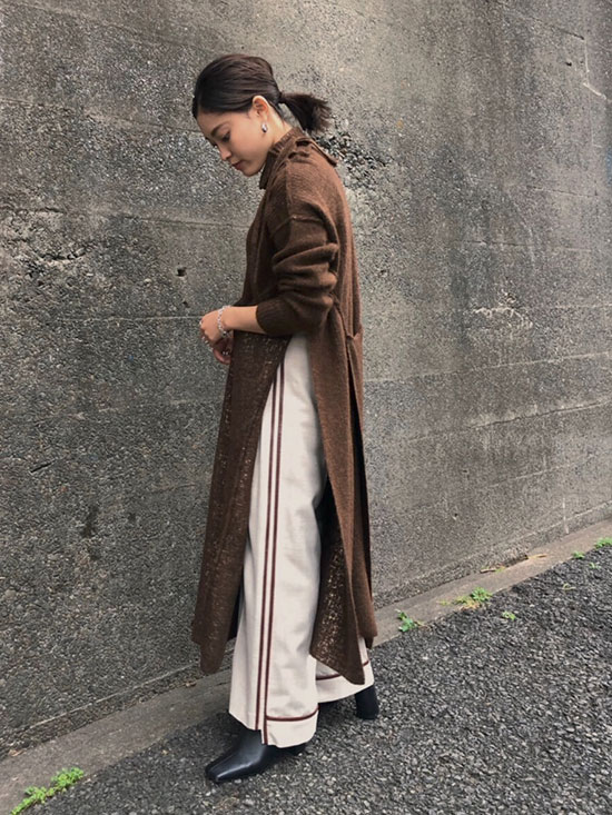 akane_UNDRESSED SYNTHETIC LEATHER LINE PANTS