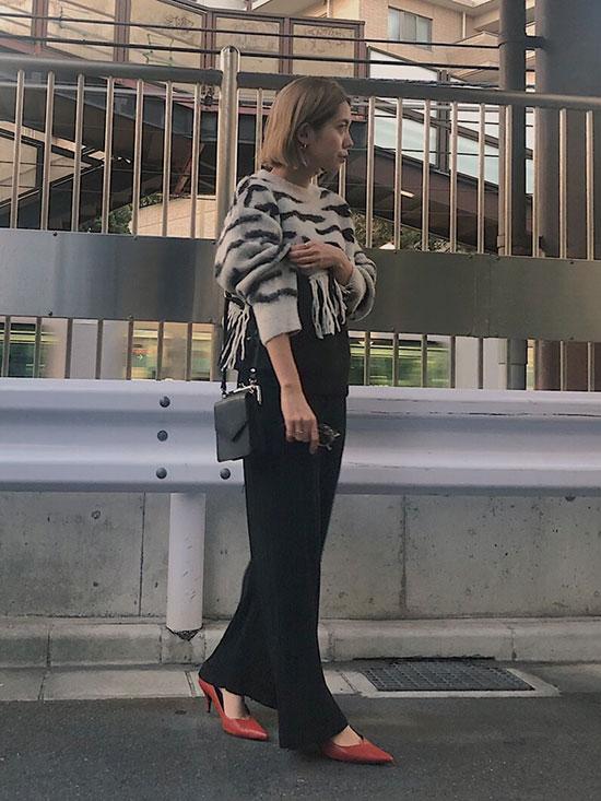 yuko_FRINGE ZEBRA KNIT