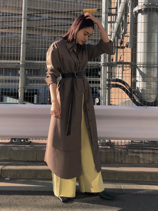 akane_UNDRESSED LAYERED SHIRT DRESS