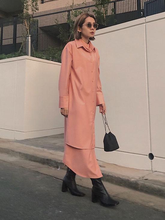 yuko_UNDRESSED LAYERED SHIRT DRESS
