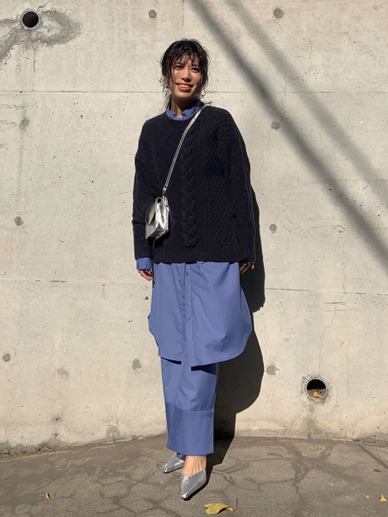 yukim_UNDRESSED ASYMMETRY CABLE KNIT