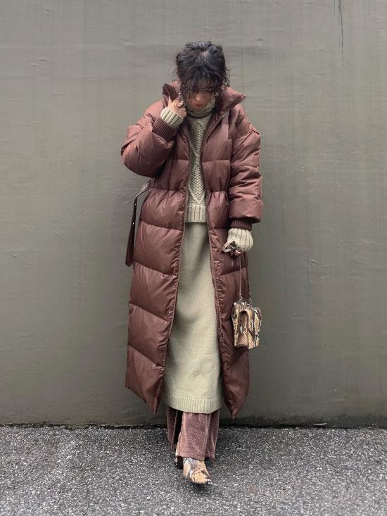 yukim_STAND COLLAR DOWN COAT