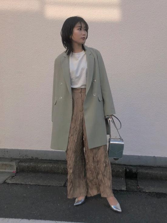 mayuna_WASHER PIPING PANTS