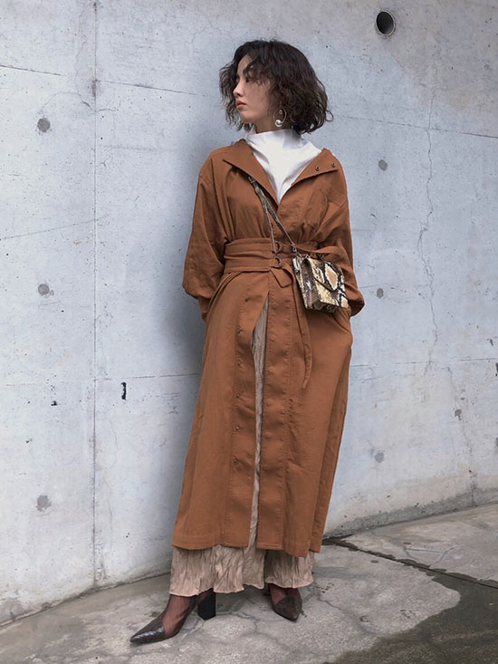 shioriok_BELTED VARIOUSLY DRESS