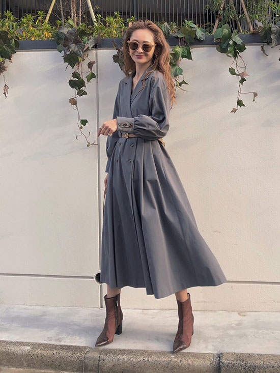 kae_LONG COAT LIKE BELT DRESS