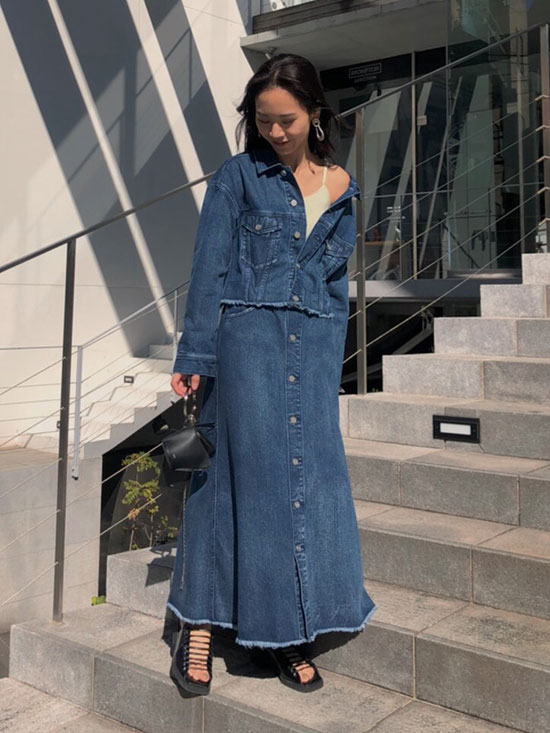 yukin_4WAY DENIM DRESS COAT