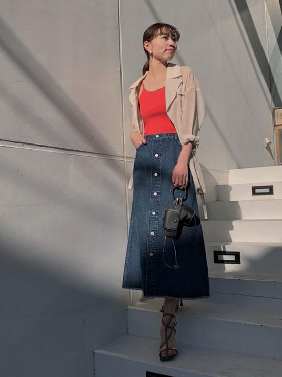 kaori_4WAY DENIM DRESS COAT