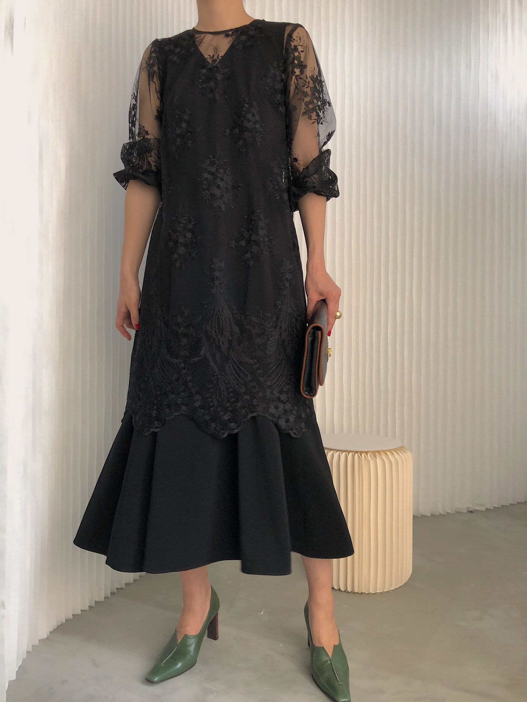 kaori_3WAY LAYERED LACE DRESS