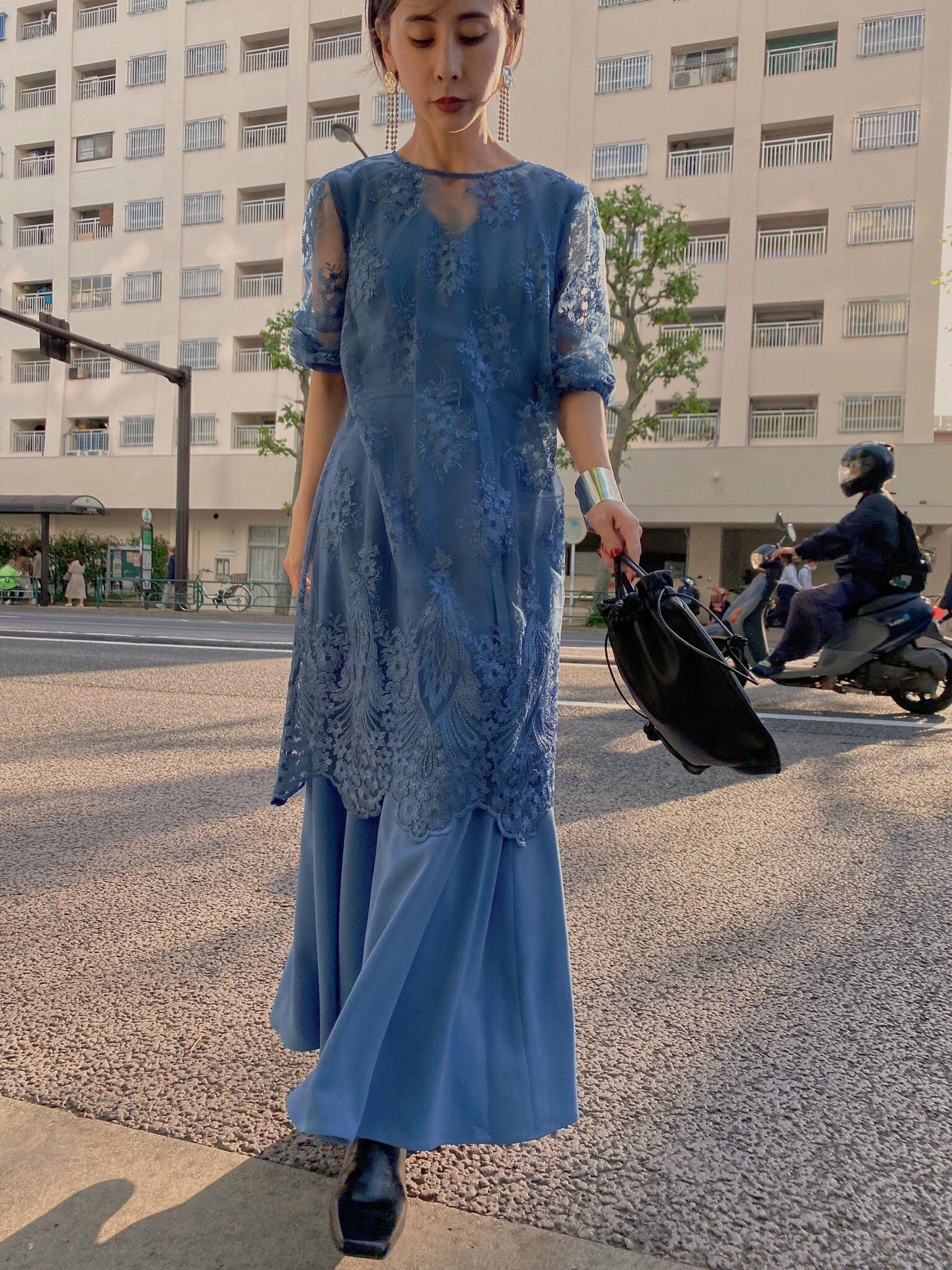 nao_3WAY LAYERED LACE DRESS
