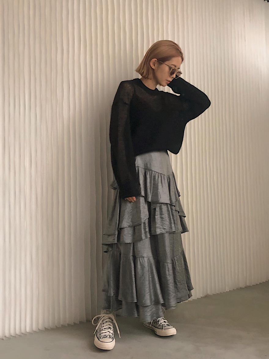 yuko_STRAGGLY TIERED SKIRT