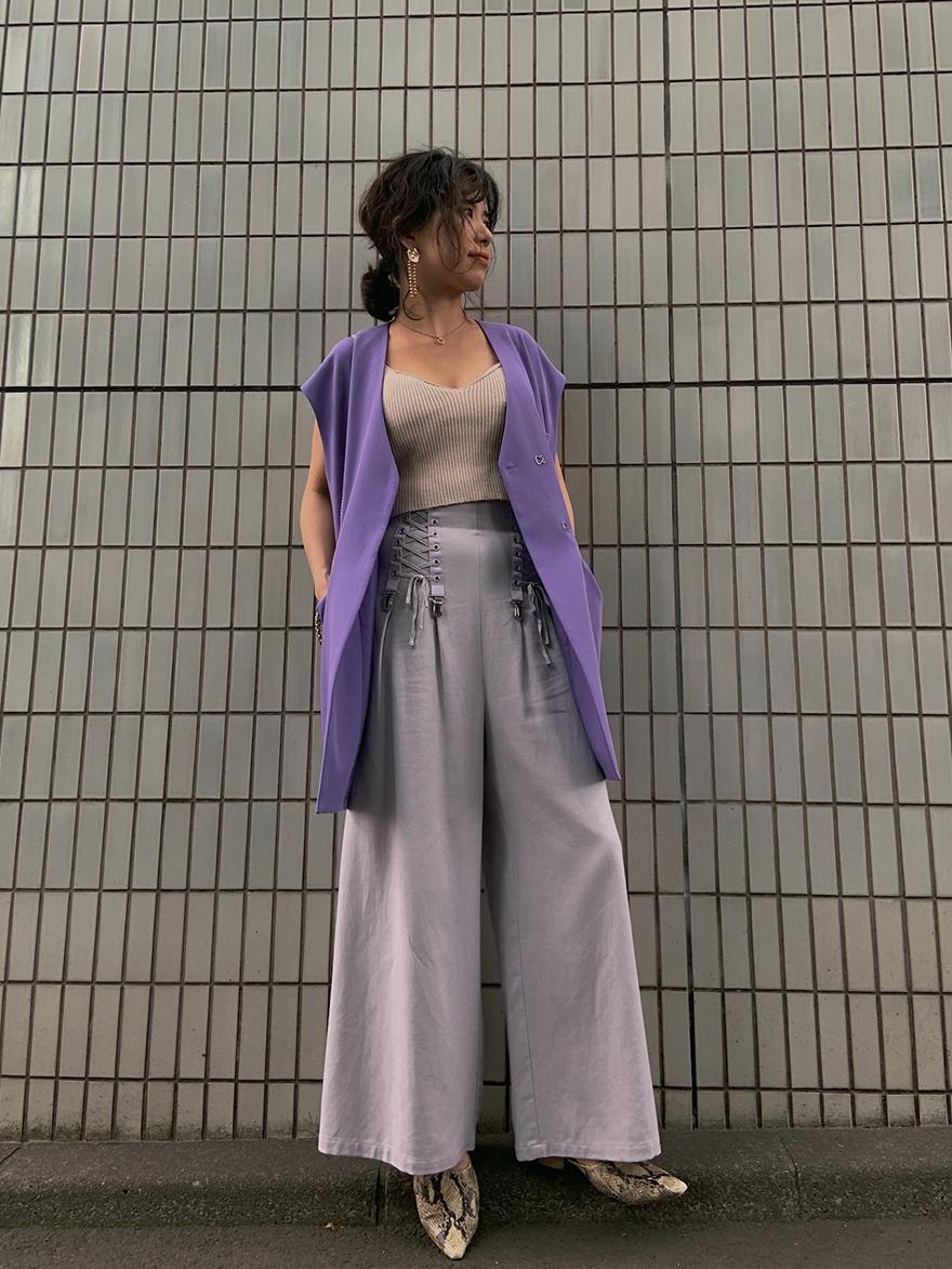 yuki_ MEDI INSIDE OUT LACE UP PANTS