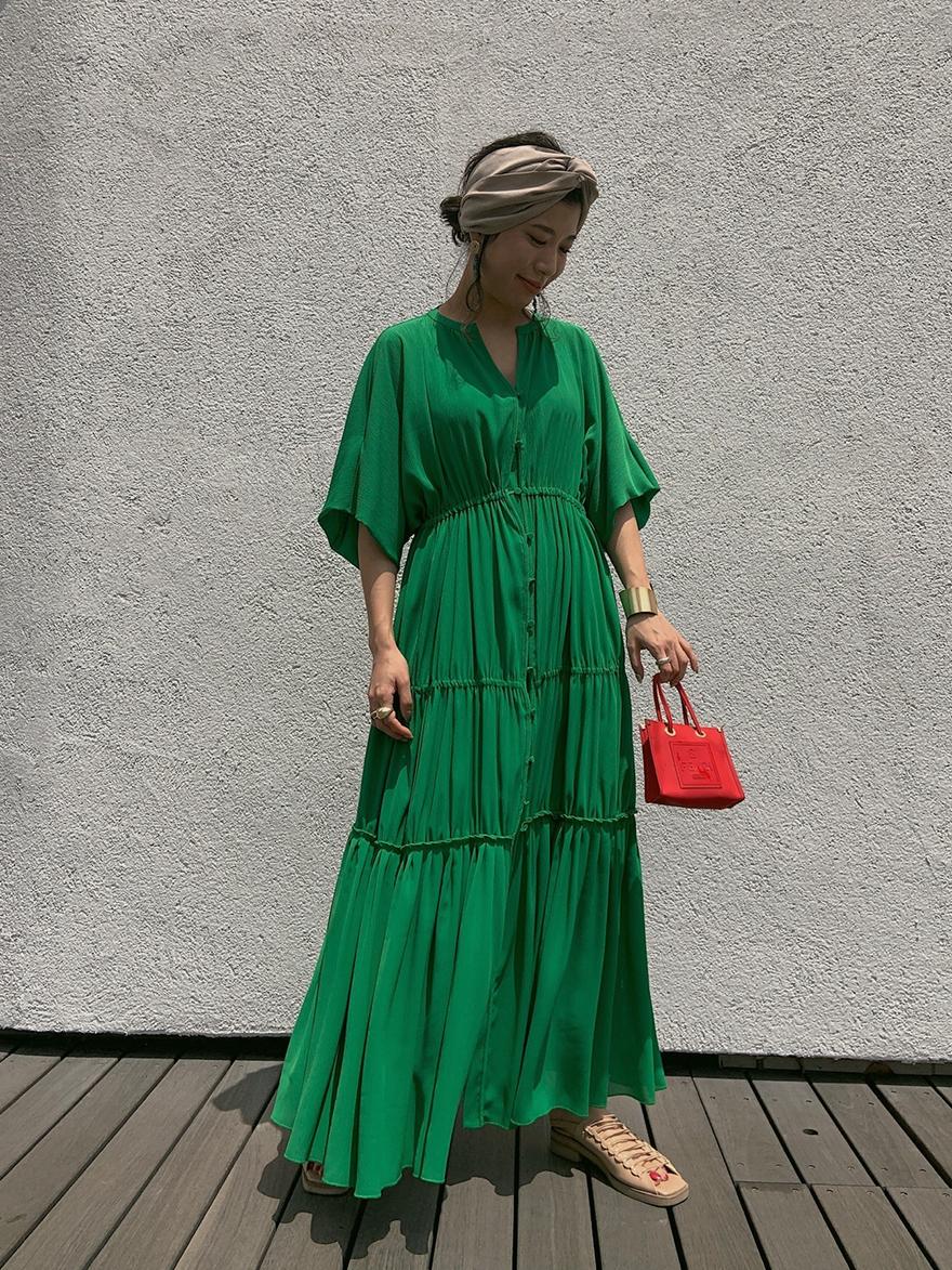 yuki_SHEER TIERED DRESS