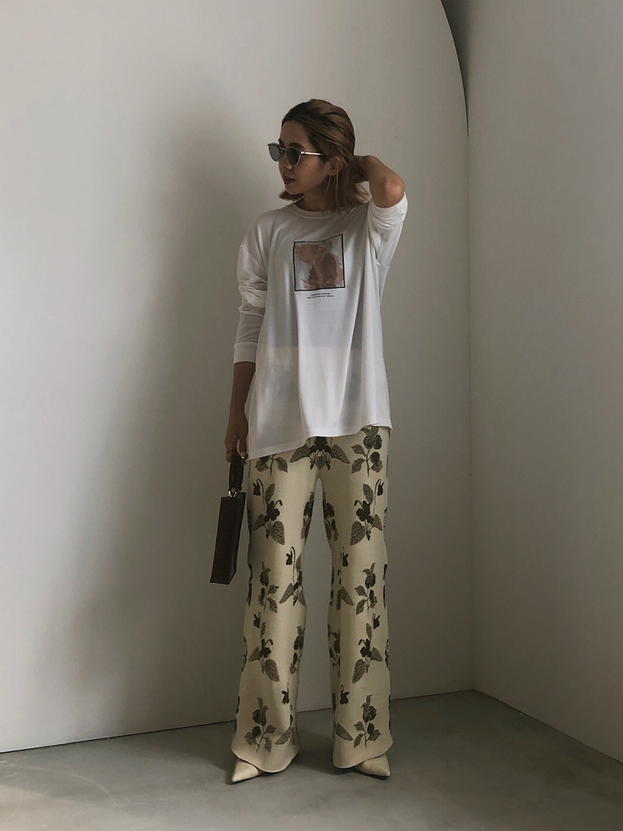 yuko_TRICK ART LONG TEE